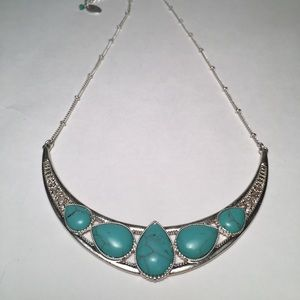 NWT Bohemian Turquoise & Silver Necklace